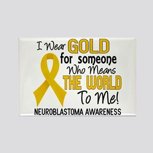 Neuroblastoma MeansWorldToMe2 Rectangle Magnet