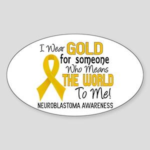 Neuroblastoma MeansWorldToMe2 Sticker (Oval)