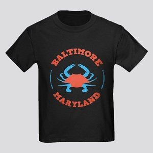 Crabbing Baltimore Kids Dark T-Shirt