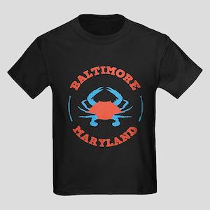 Crabbing Baltimore Kids Dark T-Shirt