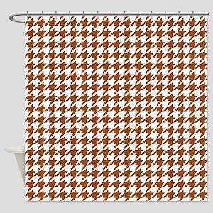 Brown Houndstooth Pattern Shower Curtain