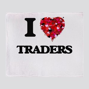 I love Traders Throw Blanket