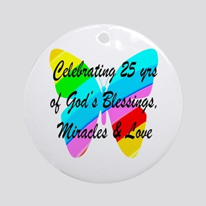 BLESSED 25 YR OLD Ornament (Round)