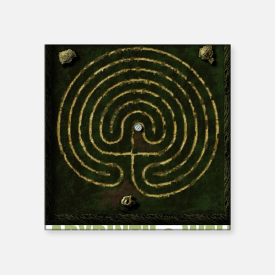 "Labyrinth & well Square Sticker 3"" x 3"""