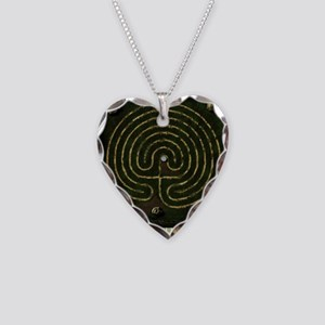 Labyrinth & well Necklace Heart Charm