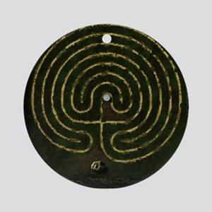 Labyrinth & well Round Ornament