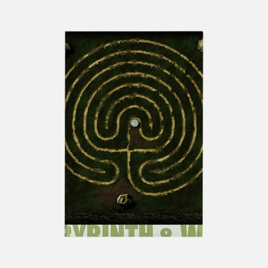 Labyrinth & well Rectangle Magnet