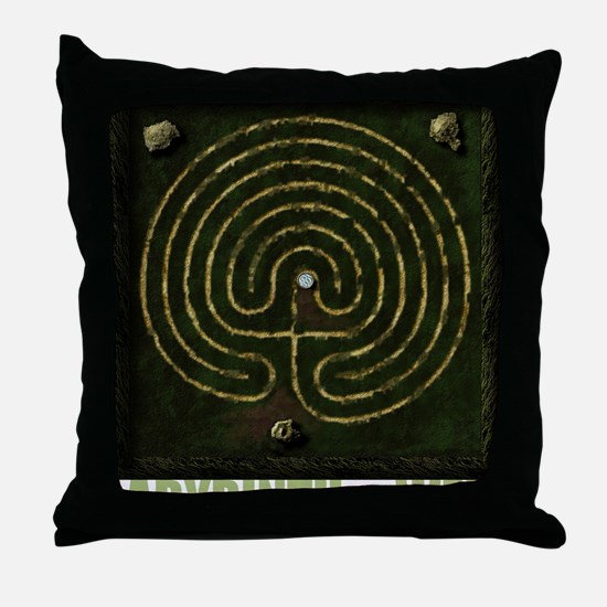 Labyrinth & well Throw Pillow