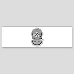 Diver Helmet Bumper Sticker