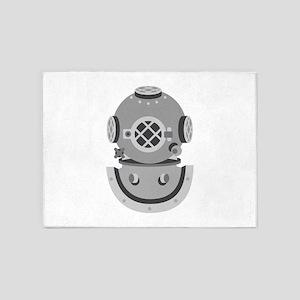 Diver Helmet 5'x7'Area Rug