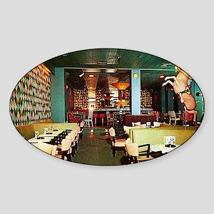 The Carousel Restaurant Oval Sticker