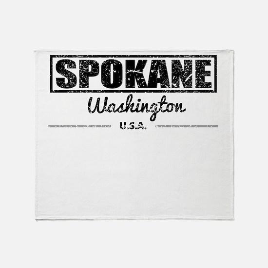Spokane Washington Throw Blanket