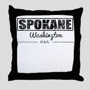Spokane Washington Throw Pillow
