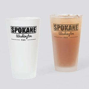Spokane Washington Drinking Glass