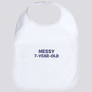 Messy~7-year-old Bib