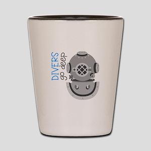 Divers Go Deep Shot Glass