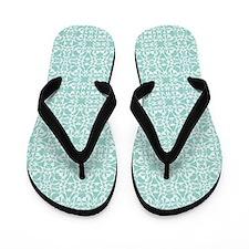 Mint White Vintage Style Flip Flops