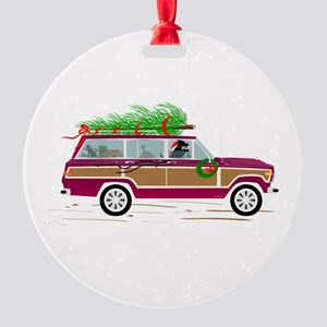 Coddiwomple Christmas Round Ornament