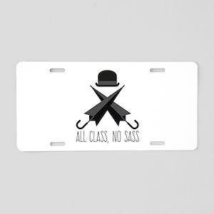 All Class,No Sass Aluminum License Plate