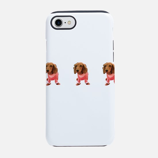 Majestic Pink Dachshund Cutie iPhone 7 Tough Case