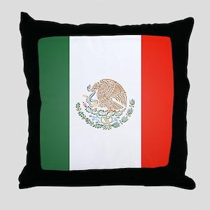 Flag Of Mexico Throw Pillow