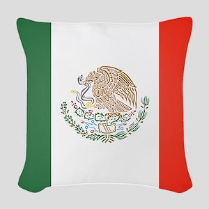 Flag Of Mexico Woven Throw Pillow