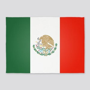 Flag Of Mexico 5'x7'Area Rug