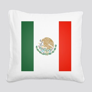 Flag Of Mexico Square Canvas Pillow