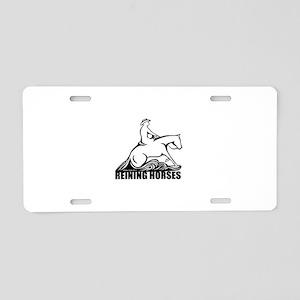 Reining Horses Aluminum License Plate