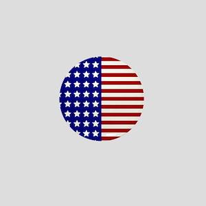US Flag Stylized Mini Button