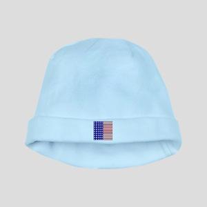 US Flag Stylized baby hat