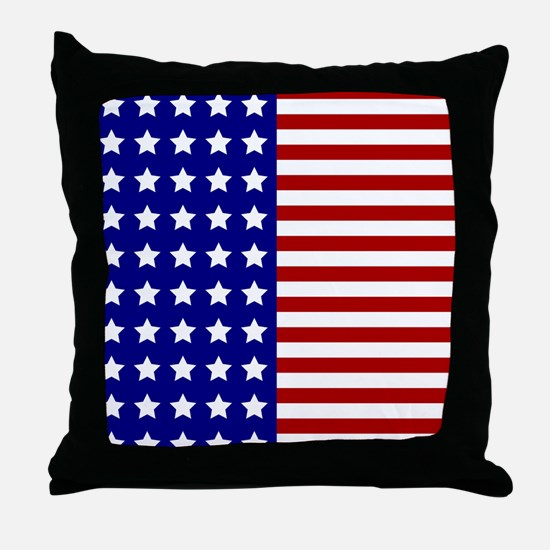 US Flag Stylized Throw Pillow
