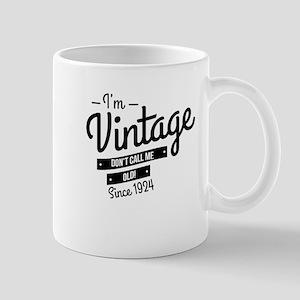 Im Vintage Since 1924 Mugs