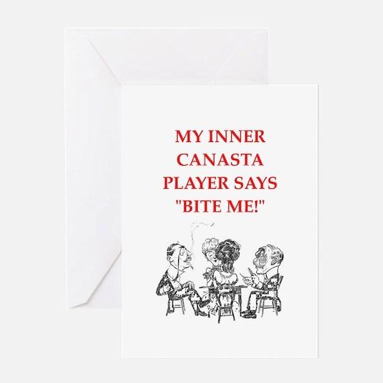 canasta joke Greeting Cards