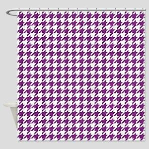 Purple Houndstooth Pattern Shower Curtain