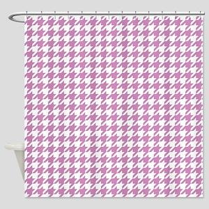 Violet Purple Houndstooth Pattern Shower Curtain