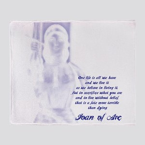 Joan of Arc - One Life Throw Blanket