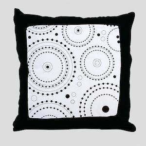 Circles in Circles BW Throw Pillow