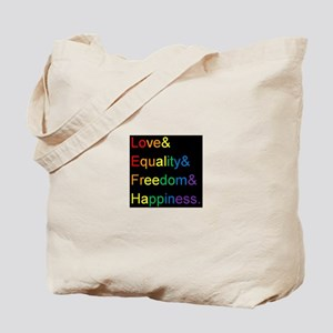 Pride Love& Tote Bag