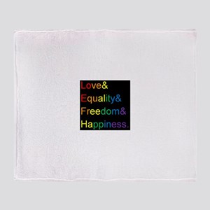 Pride Love& Throw Blanket