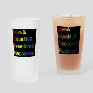 Pride Love& Drinking Glass