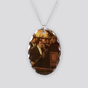 Orchestra of Opera by Degas Necklace Oval Charm