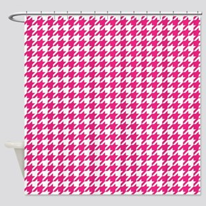 Rose Red Houndstooth Pattern Shower Curtain