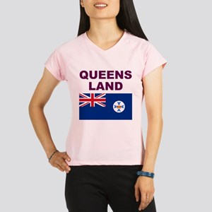 QLD-Maroon-Light Performance Dry T-Shirt