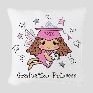 Graduation Princess Personaliz Woven Throw Pillow