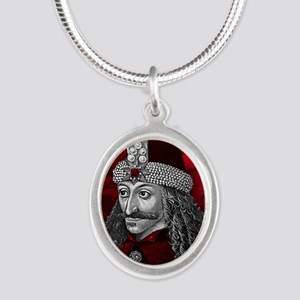 Vlad Dracula Gothic Silver Oval Necklace
