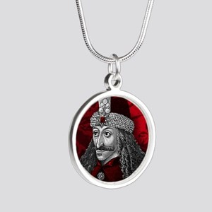 Vlad Dracula Gothic Silver Round Necklace