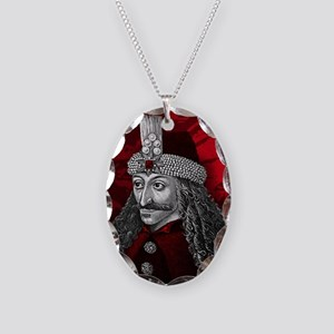 Vlad Dracula Gothic Necklace Oval Charm