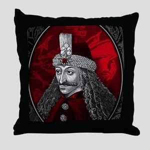 Vlad Dracula Gothic Throw Pillow