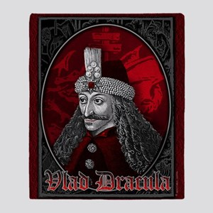 Vlad Dracula Gothic Throw Blanket
